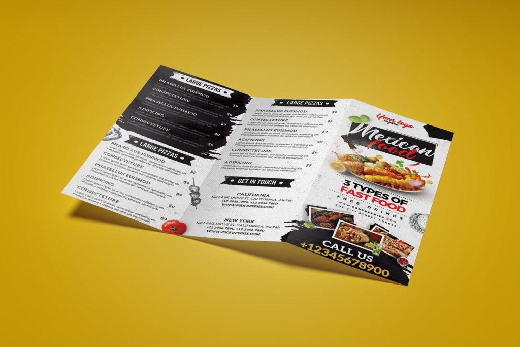 Ulotka składana z menu Wrocław