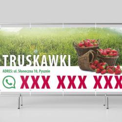 Baner 2x1m - truskawki