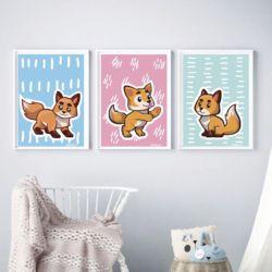 Plakaty z liskami
