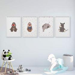 Zwierzaki pluszaki plakaty