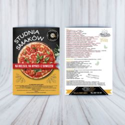 Ulotka dla gastronomii - pizza menu